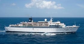 Organisation de service du bateau de Flag, dans les Caraïbes.